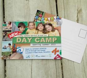 גלויה מעוצבת מחנה יום