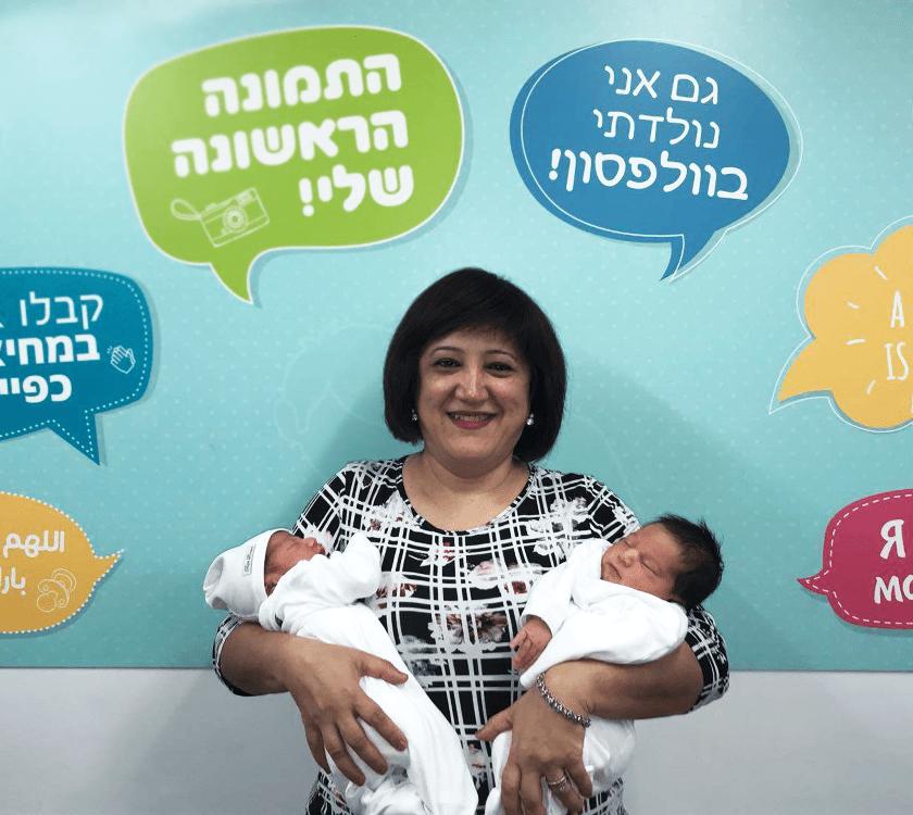עיצוב רקע לצילום ראשון לתינוק